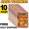 10 Pairs (20pcs) HotHands Hand Warmers Safe Natural Odorless Heat Free Shipping