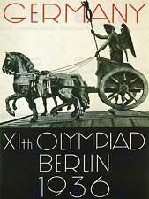 Anuncio de Sport 1936 Juegos Olímpicos de Berlín Alemania estatua carroza posterbb 7399B