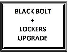 BLACK BOLT UPGRADE X 16 + LOCKING BOLTS ADD TO CUSTOMERS WHEEL ORDER