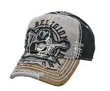 NEW TRUE RELIGION GRAPHIC UNISEX DISTRESSED BLACK BUDDHA TRUCKER HAT CAP TR1101