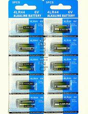 10x 4LR44 6v batteries PX28A 476A A544 4A76 4G13   6 Volt Alkaline  battery 0%Hg