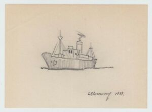 Original Pencil Drawing signed  L.S.Lowry 1939