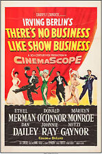 "Poster There's No Business Like Show Business 1954 27""x41"" VF 7.5 Marilyn Monroe"
