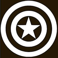 "3 /"" wide Captain America Shield ALUMINUM METAL DECAL Car truck jeep atv laptop"