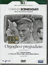2 Dvd Serie del drama Rai ORGULLO Y PREJUICIO con Virna Lisi completa nuevo 1957