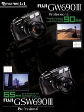 FUJI GW690III 6x9 FORMAT CAMERA SPECIFICATION SHEET BROCHURE -FUJI FILM GW690