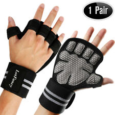 Men Weightlifting Gloves With Wrist Wrap Weight Workout Gym/Training/Fitness
