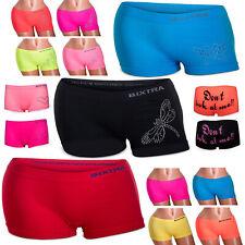 4 St Damen Panties Seamless Hipster Hotpants Boxershorts Microfaser Streifen