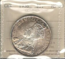 1936 Silver Dollar ICCS MS-63 GORGEOUS Golden PQ Toned George V 2nd Canada $1.00