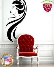 Wall Stickers Vinyl Decal Beauty Salon Long Hair Ponytail Hot Sexy Girl EM157