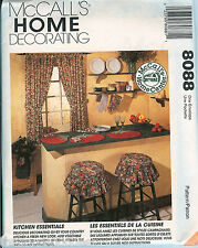 McCalls 8088 Kitchen Essentials Home Decor curtains placemats pattern UNCUT FF
