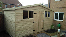 GARDEN SHED TANALISED SUPER HEAVY DUTY 14X8 REVERSE APEX 19MM T&G. 3X2.
