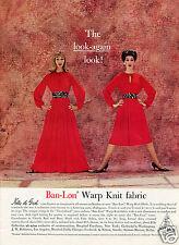 1960 Nelly de Grab Ban-Lon Warp Knit Fabric Print Ad