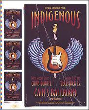 INDIGENOUS CHRIS DUARTE Tulsa Cain's 2000 Original Uncut Concert Poster Signed