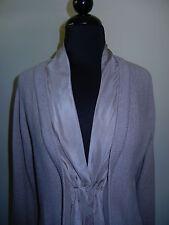 RIVAMONTE Cardigan Sweater Taupe - Perfect -  NWOT Sz:  L