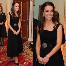 New Preen By Thornton Bregazzi Finella Black Dress Gown XS, Xsmall Aso Royal