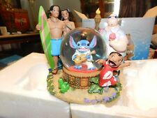 Lilo and Stitch- Elvis Musical Snow Globe Disney Store Exclusive Plays Aloha Oe