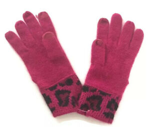 Coach Ocelot Tech Touch Knit Glove Multicolor Pink New Without Tag $88