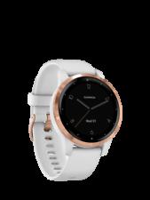 Garmin Vivoactive 4S Reloj inteligente 40mm con banda de silicona Blanco/Dorado Rosa