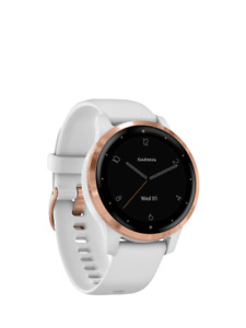 Garmin Vivoactive 4S Smartwatch 40mm w/ Silicone Band White/Rose Gold