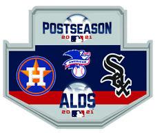 2021 Alds Divisional Dueling Broche Houston Astros V Chicago Blanc World Série
