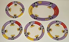 Walt Disney World Mickey Mouse Design Food Service Vintage Paper Plates Lot Of 5