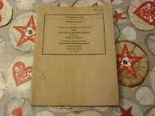 JEEP / MANUEL DE CONDUITE ET D'ENTRETIEN POUR VOITURE DE RECONNAISSANCE / 1943