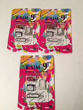 x20 R-SIM 9 Unlock 10 Cloud Card Lot iPhone 4S 5 5S 5C 6 6+ 2G 3G 4G LTE iOS 7.,