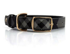 Luxury Designer Dog collar - Genuine Leather - Gold Hardware - Show Dog Worthy