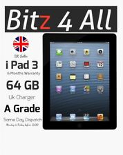 Apple Ipad 3º Gen. 64gb, Wi-Fi + Celular (Libre ), 9.7in Negro, Pantalla Retina