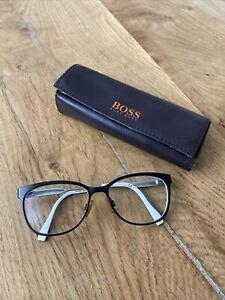 Hugo Boss Brille Damen Brillengestell Schwarz Mit Etui Und Gläsern Boss Orange