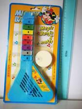 WALT DISNEY MICKEY BAND MOUSE BONTEMPI STRUMENTO MAGIC BANJO & NOTES VINTAGE TOY
