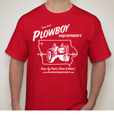 Red PLOWBOY EQUIPMENT T Shirt Gildan Tractor Farm for Farmall Case IH Large XL