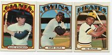 1972 Topps Baseball COMPLETE YOUR SET LOT! (11¢ ea starting bid per selection)