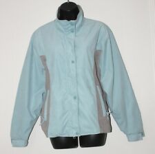 Outback Trading Co. women's blue faux suede equestrian riding jacket, medium