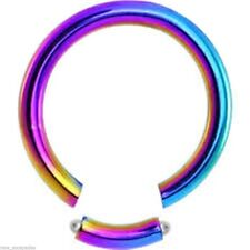 """Segment Seamless Ring 16 Gauge 1/2"""" Titanium Rainbow Body Jewelry"""