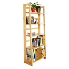 Five Tier Tropical Hevea Wood Folding Shelf Unit.