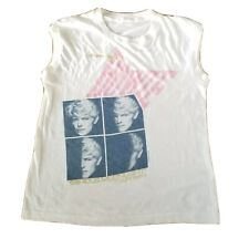 Rare Vtg David Bowie Serious Moonlight Tour Concert sleeveless Tshirt Sz S 1983