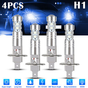 4x H1 ICE Blue CREE LED Headlight Fog Driving Light Bulb 8000K Super Bright 200W
