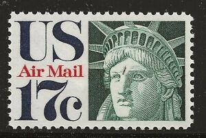 US Scott #C80, Single 1971 Air Mail 17c FVF MNH