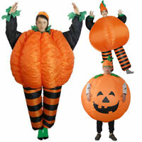 US!Adults Inflatable Halloween Party Pumpkin Cosplay Costume Blow up Dress Props