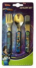 Disney Miles from Tomorrow 3 Piece Metal Cutlery Set Knife Fork Spoon Child Boy