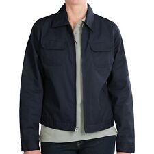 Dickies Women's Heritage Jacket L Dark Navy Blue Cotton Poly Twill Work Uniform