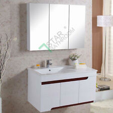 1200x720x150mm Pencil Edge Glass Mirror Cabinet Shaving Medicine Bathroom Vanity