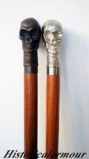 NEW Vintage CANE Antique SKULL HEAD Victorian WALKING STICK X-MAS GIFT OF 2 PCS