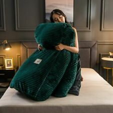 Duvet Cover Winter Blanket Thick Warm Flannel Fleece Velvet Bedroom Home Textile