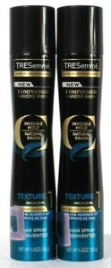 2 Count TRESemme 5.5 Oz Invisible Texture Hold Level 1 Compressed Mist Hairspray
