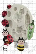 Silicone mould Peapod Baby & Ladybirds | Food Use FPC Sugarcraft FREE UK shippin
