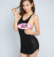Sexy Women Mini Dress See Transparent Vest Backless KTV Clubwear