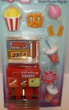 "Movie Theater play set accessories for 18"" doll soda fountain,pretzel,popcorn"